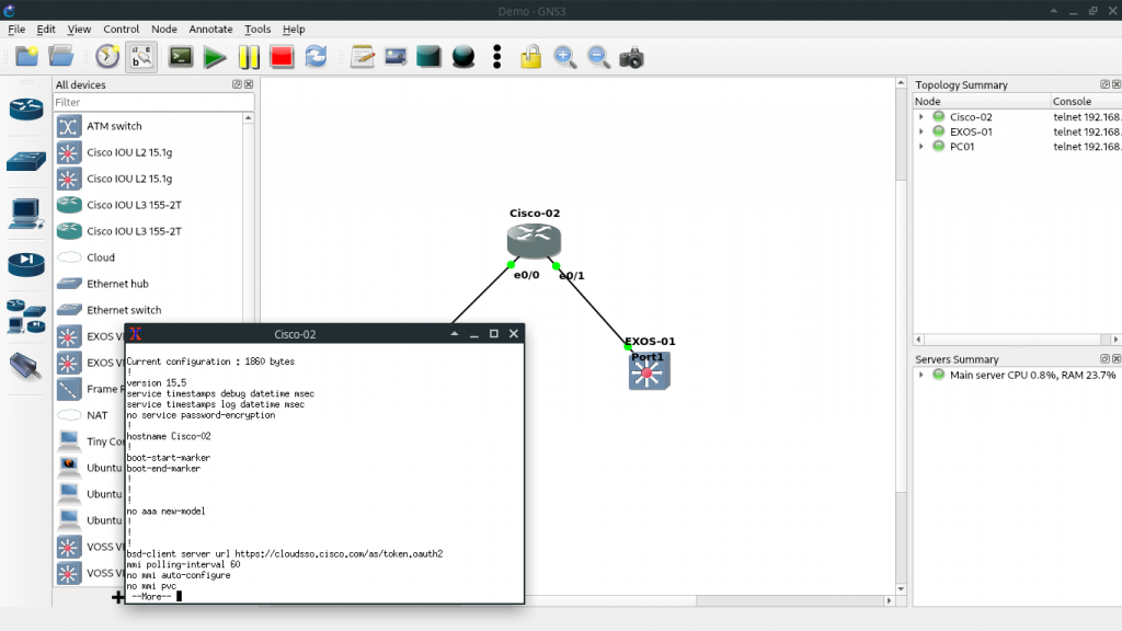 GNS3 in Arch Linux
